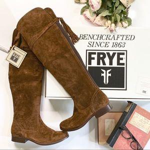 Frye OTK Tassel Boot in Wood